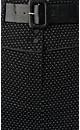 Spot Pencil Skirt with Belt