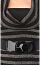 Striped Cowl Neck Top