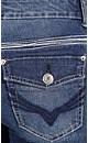 Stitch Detail Wide Leg Jeans