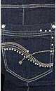 Black Bling Belt Jean