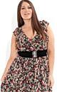 Chiffon Floral Frill Dress