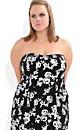 Rose Strapless Dress
