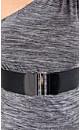 One Shoulder Marl Top with Belt