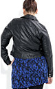 Leatherette Biker Jacket