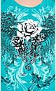 Foil Rose Graffiti Top