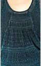 Teal Jacquard Sweater