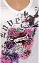 Graffiti Rose Tattoo Top