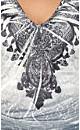 Crushed Print Divine Top
