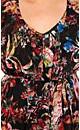 Shadow Floral Chiffon Dress