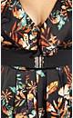Print Lace Back Tunic