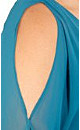 Contrast Teal Tunic