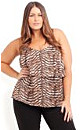 Gold Strappy Animal Top