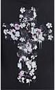 Floral Crucifix Hoodie