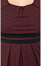 Miss Stripe Ponte Dress