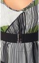 Fluoro Stripe Top with Belt