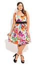 Pansy Power Dress