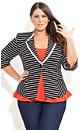Stripe Button Detail Jacket