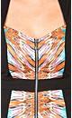 Mirror Print Zip Dress
