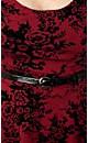 Oriental Flocked Skater Dress