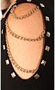 Stud Chain Shoulder Top