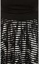 Lace Stripe Swing Dress