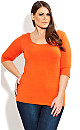 3/4 Sleeve Colored Knit Top