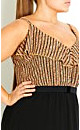 Oriental Frill Maxi Dress