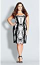Lace Affair Printed Sheath Dress