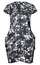 Women's Plus Size Mono Floral Zip Front Tunic | City Chic USA