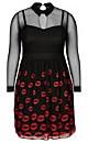 DRESS MISS LIPPY - Black - 24 / XXL