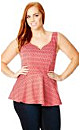 Heart Stamp Peplum Top