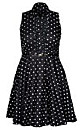 Women's Plus Size Spotty Dotty Dress | City Chic USA