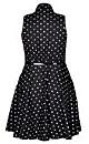 Black Spotty Dotty Fit & Flare Dress
