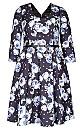 Women's Plus Size Vintage Floral Dress   City Chic USA