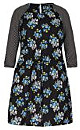 Spliced Floral Tunic