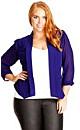 Colored Drapey Blazer Jacket - Iris - 16 / S
