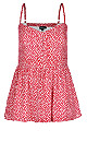Care Free Cami Top - Poppy Red - 14 / XS