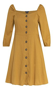 Summer Fling Dress - mustard