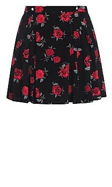 Rosie Posie Skirt - black