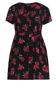 Rosie Posie Dress - black