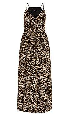 Leopard Love Maxi Dress - ochre