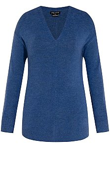 Soft Marle Jumper - bluebell
