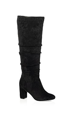 Petra Knee High Boot - black