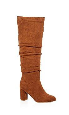 Petra Knee High Boot - tan