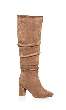 Petra Knee High Boot - mushroom
