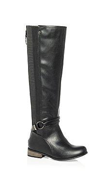 Phoebe Knee Boot - black