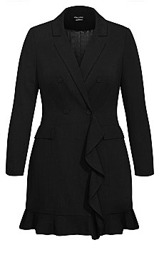 Tuxe Ruffle Dress - black