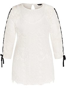 Endless Lace Top - ivory