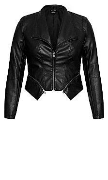Zip Detail Jacket - black