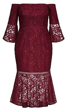 Laced Fox Dress - merlot